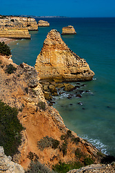 26-04-2019 POR: Vacation Algarve 2019 day 3, Albufeira<br /> Hiking from Praia da Marinha to Benagil, a small Portuguese village on the Atlantic coast in the municipality of Lagoa, Algarve, in Portugal.