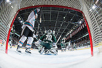 KELOWNA, CANADA - JANUARY 08: The Kelowna Rockets celebrate a goal against the Everett Silvertips on January 8, 2016 at Prospera Place in Kelowna, British Columbia, Canada.  (Photo by Marissa Baecker/Shoot the Breeze)  *** Local Caption *** goal; celebrate;
