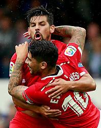 Ever Banega of Sevilla celebrates with Nolito after scoring his sides second goal   - Mandatory by-line: Matt McNulty/JMP - 06/08/2017 - FOOTBALL - Goodison Park - Liverpool, England - Everton v Sevilla - Pre-season friendly
