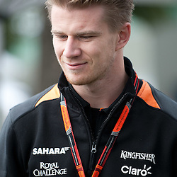 Nico Hulkenberg of Sahara Force India F1 Team.<br /> Round 1 - opening day of the 2015 Formula 1 Rolex Australian Grand Prix at The circuit of Albert Park, Melbourne, Victoria on the 12th March 2015.<br /> Wayne Neal | SportPix.org.uk
