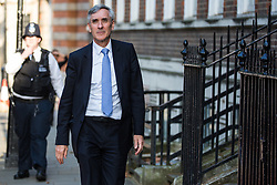 London, UK. 23 July, 2019. Sir John Redwood, Conservative MP for Wokingham, arrives to attend a celebration in Westminster of Boris Johnson's election as Conservative Party leader and replacement of Theresa May as Prime Minister organised by the pro-Brexit European Research Group (ERG).