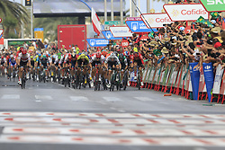Sam Bennett (IRL) Bora-Hansgrohe and Edward Theuns (Bel) Trek-Segafredo sprint for the finish line at the end of Stage 3 of La Vuelta 2019 running 188km from Ibi. Ciudad del Juguete to Alicante, Spain. 26th August 2019.<br /> Picture: Eoin Clarke | Cyclefile<br /> <br /> All photos usage must carry mandatory copyright credit (© Cyclefile | Eoin Clarke)