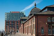 Fischauktionshalle Altona, Hamburger Hafen, Hamburg, Deutschland.|.fish auction hall Altona, port, Hamburg, Germany