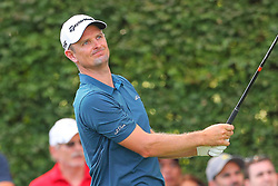 August 23, 2018 - Paramus, NJ, U.S. - PARAMUS, NJ - AUGUST 23:   Justin Rose of England plays his shot from the 17th tee during the first round of the Northern Trust Golf Tournament on August 23, 2018, at Ridgewood Country Club in Paramus, NJ.  (Photo by Rich Graessle/Icon Sportswire) (Credit Image: © Rich Graessle/Icon SMI via ZUMA Press)