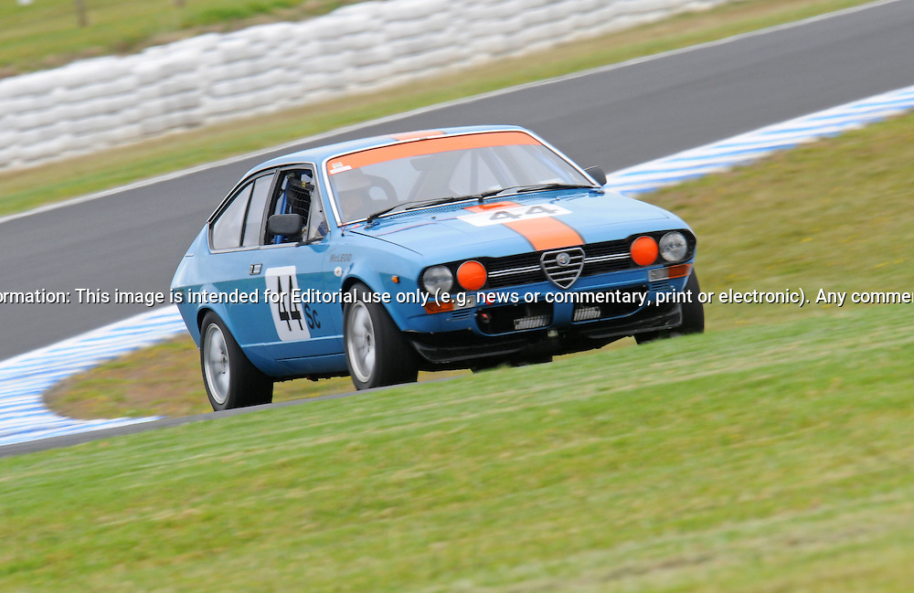Lyndon McLeod - Alfa Romeo Alfetta G.Historic Motorsport Racing - Phillip Island Classic.18th March 2011.Phillip Island Racetrack, Phillip Island, Victoria.(C) Joel Strickland Photographics.Use information: This image is intended for Editorial use only (e.g. news or commentary, print or electronic). Any commercial or promotional use requires additional clearance.
