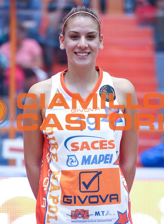DESCRIZIONE : Napoli Lega A1 Femminile 2015-16 Opening Day 2015<br /> GIOCATORE : Maria Giuseppone<br /> SQUADRA : Sapes Mapei Givova Dike Napoli<br /> EVENTO : Campionato Lega A1 Femminile 2015-2016 <br /> GARA : <br /> DATA : 03/10/2015<br /> CATEGORIA : ritratto headshot <br /> SPORT : Pallacanestro <br /> AUTORE : Agenzia Ciamillo-Castoria/ElioCastoria<br /> Galleria : Lega Basket Femminile<br /> 2015-2016 <br /> Fotonotizia : Napoli Lega A1 Femminile 2015-16 Opening Day 2015<br /> Predefinita :