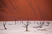 Sunset at Dead Vlei, Namibia.