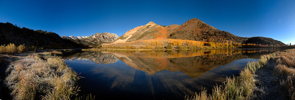 Fall color reflected in North Lake on Bishop Creek