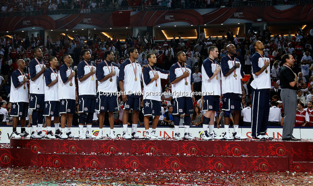Turkey vs USA, Day 16 of the<br /> 2010 FIBA World Championship<br /> in Istanbul, Turkey, 12 September<br /> 2010, First place / Gold medal game<br /> photo: M.Metlas
