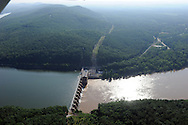 High Rock  dam on the Yadkin River, Hydro Power generating (Progress Energy). and High Rock Mountain
