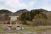 An empty tourist picnic site near the exclusion zone in rural Fukushima, Japan. Wednesday May 5th 2011. A 20 kilometre exclusion zone was set up on April 22nd to limit exposure to radiation from the Fukushima Daichi nuclear power station that was damaged in the earthquake and tsunami of March 11th.