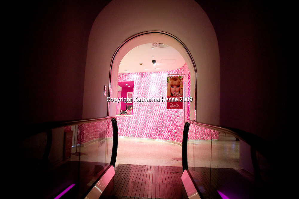 SHANGHAI, JUNE-14 :  entrance to the Barbie store