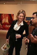 Katherine Burton, Other,Riyas Komu and Peter Drake. - VIP  launch of Aicon. London's largest contemporary Indian art gallery. Heddon st. and afterwards ant Momo.15 Marc h 2007.  -DO NOT ARCHIVE-© Copyright Photograph by Dafydd Jones. 248 Clapham Rd. London SW9 0PZ. Tel 0207 820 0771. www.dafjones.com.