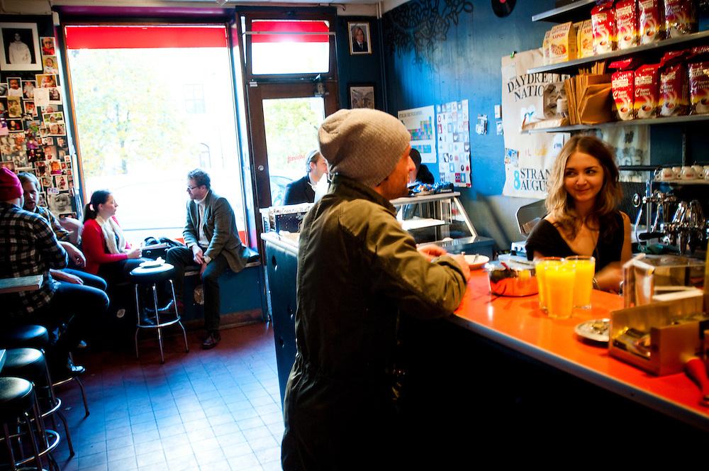 Il Caffè, a small café in Kungsholmen, Stockholm