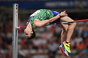 lya Ivanyuk (RUS) places third in the high jump at 7-5¾ (2.28m) during the Meeting de Paris, Saturday, Aug. 24, 2019, in Paris. (Jiro Mochizuki/Image of Sport via AP)