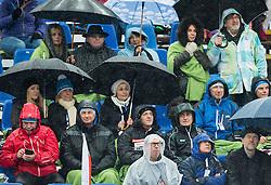 Srecko Vilar of Golden Fox committee, Borut Pahor, president of Slovenia and Jurij Zurej of SZS during the 2nd Run of 7th Ladies' Slalom at 51st Golden Fox of Audi FIS Ski World Cup 2014/15, on February 22, 2015 in Pohorje, Maribor, Slovenia. Photo by Vid Ponikvar / Sportida