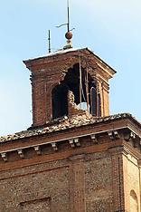 20120524 TERREMOTO NEL FERRARESE- DANNI AD UNA TORRE DEL CASTELLO ESTENSE