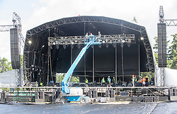 The Radio 1 stage from the site. The first campers arrive at T in the Park 2016.