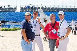 PHILIPPAERTS Nicola (BEL), PHILIPPAERTS Ludo (BEL), WEINBERG Peter (Nationaltrainer), BRUYNSEELS Niels (BEL) <br /> Tryon - FEI World Equestrian Games™ 2018<br /> Parcoursbesichtigung<br /> 2. Qualifikation Teamwertung 2. Runde<br /> 21. September 2018<br /> © www.sportfotos-lafrentz.de/Stefan Lafrentz