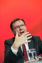 26.03.2014, SPOe Bundesgeschaeftsstelle, Wien, AUT, SPOe, Pressekonferenz und Plakatpraesentation zur EU-Wahl. im Bild SPOe Bundesgeschaeftsfuehrer Norbert Darabos // Member of Parliament SPOe Norbert Darabos during press conference and presentation of placards for EU Election at Federal Party Office in Vienna, Austria on 2014/03/26. EXPA Pictures © 2014, PhotoCredit: EXPA/ Michael Gruber