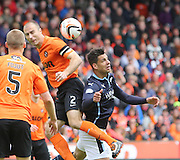 Dundee United's Sean Dillon and Dundee's Luka Tankulic - Dundee United v Dundee at Tannadice Park in the SPFL Premiership<br /> <br />  - © David Young - www.davidyoungphoto.co.uk - email: davidyoungphoto@gmail.com