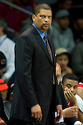 DALLAS, TX - JANUARY 21: Rutgers Scarlet Knights head coach Eddie Jordan looks on against the SMU Mustangs on January 21, 2014 at Moody Coliseum in Dallas, Texas.  (Photo by Cooper Neill/Getty Images) *** Local Caption *** Eddie Jordan