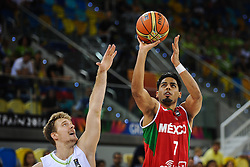 Zoran Dragic of Slovenia vs Jorge Gutierrez of Mexico during basketball match between National Teams of Slovenia and Mexico in Round 2 of Group D of FIBA Basketball World Cup Spain 2014, on August 31, 2014 in Gran Canaria Arena, Las Palmas, Canary Islands. Photo by Tom Luksys  / Sportida.com <br /> ONLY FOR Slovenia, France