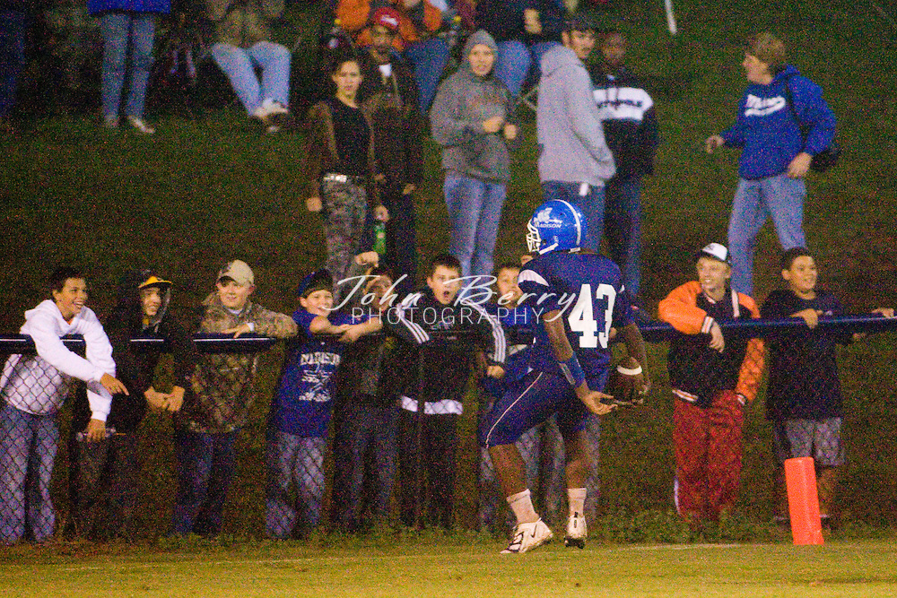 MCHS Varsity Football .vs Page .Homecoming .Madison 21, Page 14, Julie Eaheart crowned homecoming queen.9/26/08