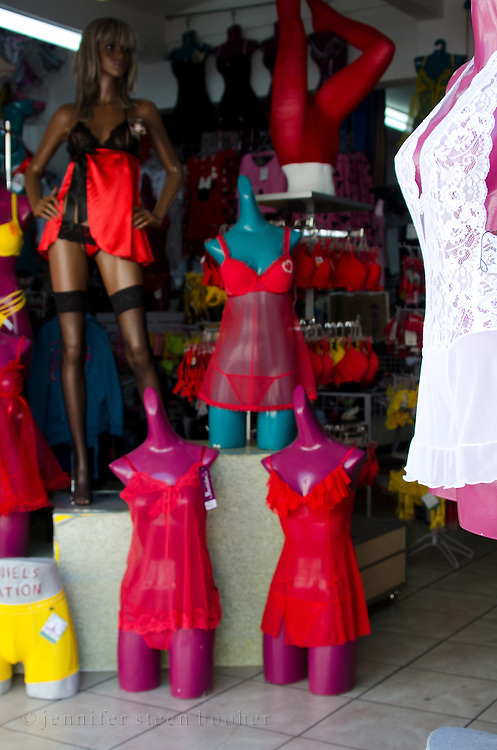 A lingerie store in the market district of Oaxaca, Mexico.