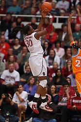 Dec 20, 2011; Stanford CA, USA;  Stanford Cardinal forward Nnemkadi Ogwumike (30) shoots a jump shot against the Tennessee Lady Volunteers during the first half at Maples Pavilion.  Mandatory Credit: Jason O. Watson-US PRESSWIRE