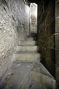spiraling stair steps in medieval tower