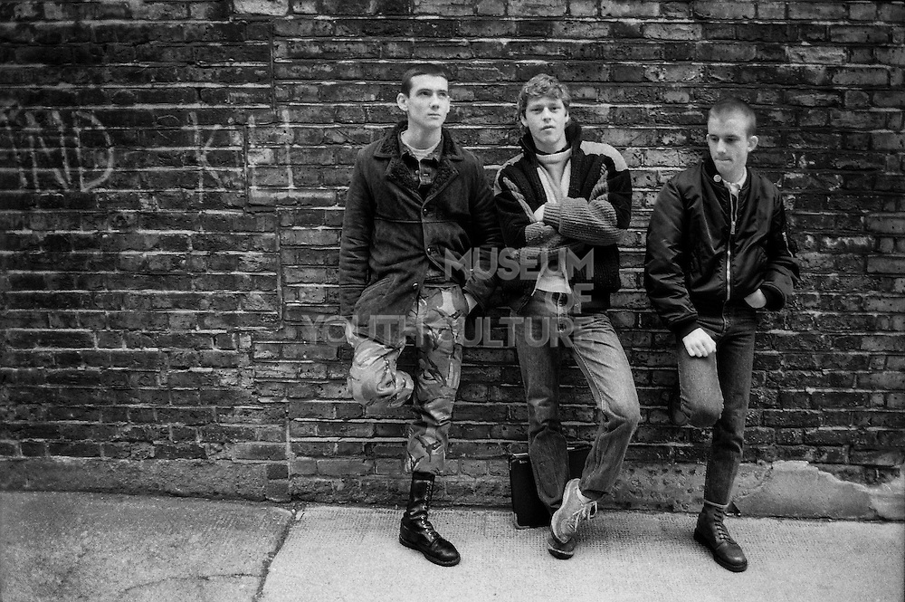 Rod, Owen and Nev, High Wycombe, UK, 1980s.