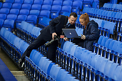 LIVERPOOL, ENGLAND - Saturday, March 12, 2016: Everton's photographer Tony McArdle during the FA Cup Quarter-Final match against Chelsea at Goodison Park. (Pic by David Rawcliffe/Propaganda)