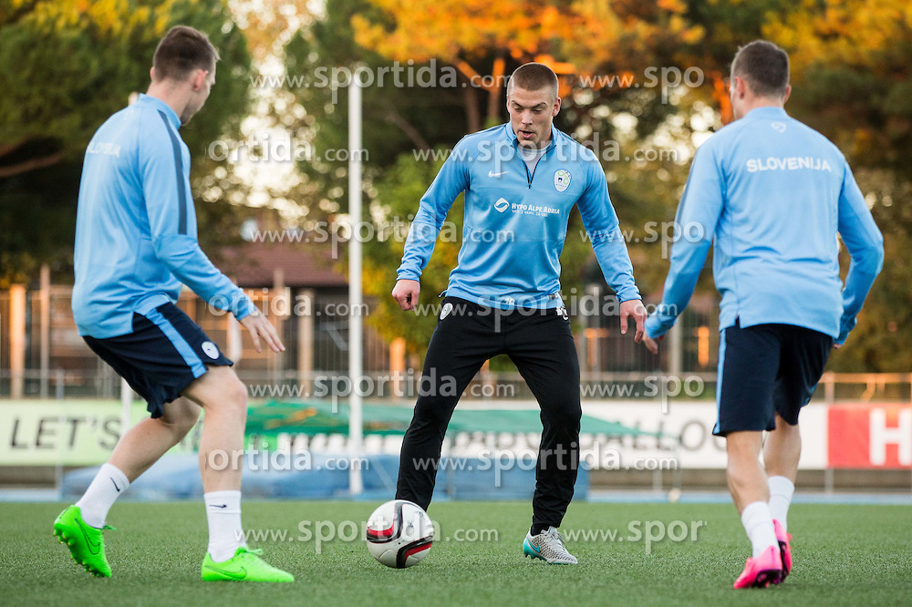 Nejc Vidmar of Slovenia during the practice session of Team Slovenia 1 day before EURO 2016 Qualifier Group E match between Slovenia and San Marino, on October 11, 2015 in Riccione, Italy. Photo by Vid Ponikvar / Sportida