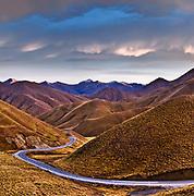 Main Highway through the Lindis Pass, Otago, New Zealand