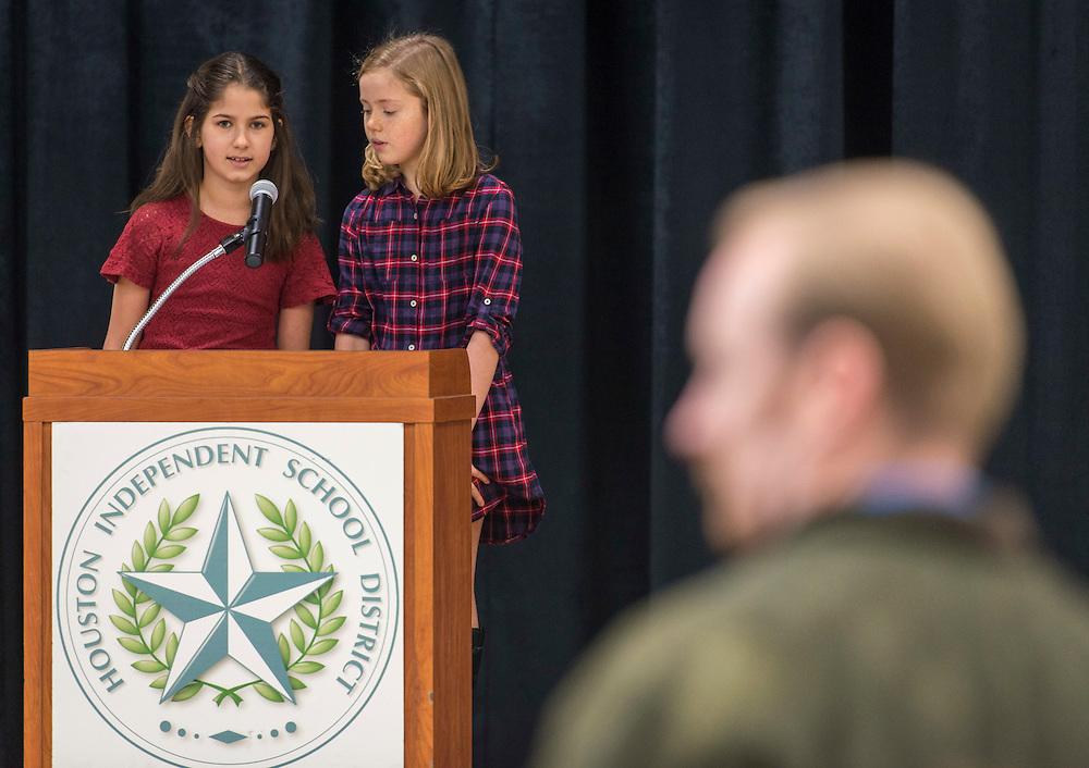 Dedication ceremony at Condit Elementary School, December 15, 2016.