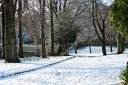 Ecclesfield Park after snowfalls in South Yorkshire Tuesday 5 February 2013..Image © Paul David Drabble