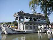 China, Beijing, Summer Palace built by Empress Cixi The Marble Boat
