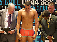 Picture by Alan Stanford/Focus Images Ltd +44 7915 056117<br /> 15/11/2013<br />  Dyah Davis during his weigh in at Glow Bluewater, Greenhithe.