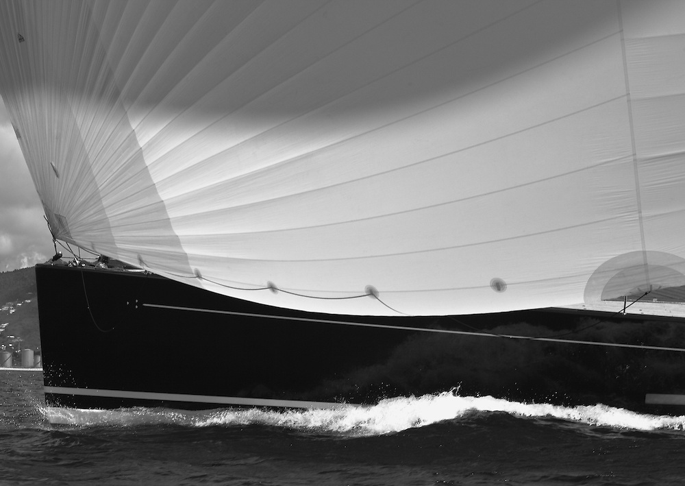 S/Y P2 racing in the 2012 RORC Caribbean 600 off of St. Maarten.