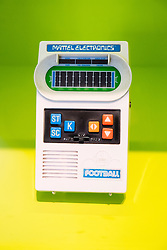 Old handheld computer game by Mattel at Computerspiele Museum or Computer Games Museum in Berlin Germany