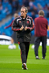 MANCHESTER, ENGLAND - Monday, August 23, 2010: Liverpool's  head of Sports Medicine and Science Dr Peter Brukner before the Premiership match at the City of Manchester Stadium. (Photo by David Rawcliffe/Propaganda)