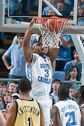 20 January 2007: North Carolina Tar Heels forward Reyshawn Terry (3) during a 77-61 Georgia Tech Yellow Jackets loss to the North Carolina Tar Heels, in the Dean E. Smith Center in Chapel Hill, NC.