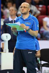 MAURO BERRUTO.ITALIA - SERBIA.PALLAVOLO TORNEO QUALIFICAZIONE OLIMPICA VOLLEY 2012.SOFIA (BULGARIA) 12-05-2012.FOTO GALBIATI - RUBIN