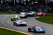May 5, 2019: IMSA Weathertech Mid Ohio. #66 Ford Chip Ganassi Racing Ford GT, GTLM: Dirk Mueller, Sebastien Bourdais, #24 BMW Team RLL BMW M8 GTE, GTLM: Jesse Krohn, John Edwards, Mozzie Mostert, Alex Zanardi