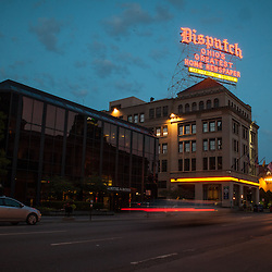 Columbus Dispatch at dusk on June 15th, 2014. (Christina Paolucci, photographer)