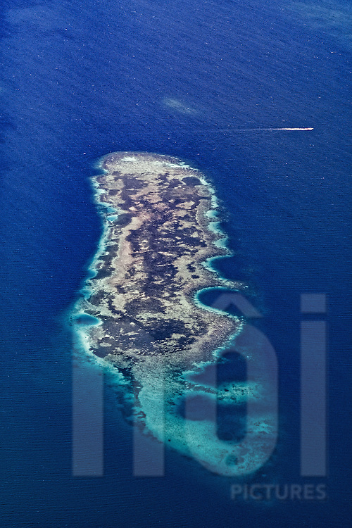 Aerial view of a deserted island near Bohol, Central Visayas, Philippines, Southeast Asia
