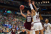 Mississippi State Lady Bulldogs guard Dominique Dillingham #00 drives to the basket against the South Carolina Gamecocks during the NCAA Women's Championship game at the American Airlines Center in Dallas, Texas on April 2, 2017.  (Cooper Neill for The Players Tribune)