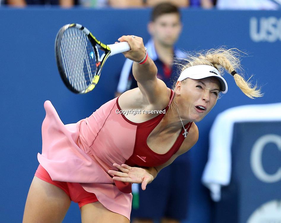 30.08.2014. Flushing Meadows, New York, USA. US Open tennis championships.  Caroline Wozniacki (DEN)