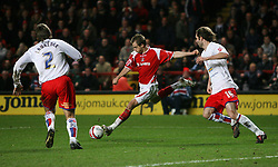 LONDON, ENGLAND - Friday, February 8, 2008: Charlton Athletic's Luke Varney scores his second goal  against Crystal Palace during the League Championship match at the Valley. (Photo by Chris Ratcliffe/Propaganda)
